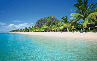 Sonnengruss auf Mauritius