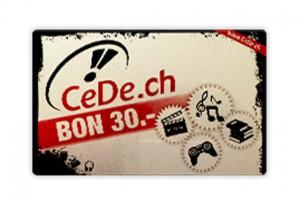 Gewinne einen Gutschein von CeDe.ch im Wert von CHF 30.-