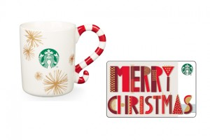 Zuckerstangen-Tassen und Geschenkkarten von Starbucks zu gewinnen