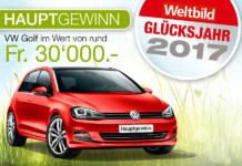 Gewinne einen VW Golf Highline im Wert von 30'000 Franken