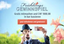 Gewinne 1'000 Franken in bar beim grossen Frühlings-Gewinnspiel