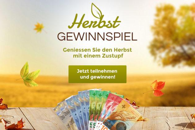 Herbst-Gewinnspiel: Gewinne 1'000 Franken in bar
