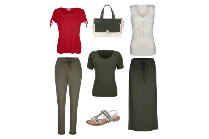 Khaki Love: Kleider im Naturton bei Veillon