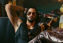 "Keanu Reeves als Johnny Silverhand in ""Cyberpunk 2077"""