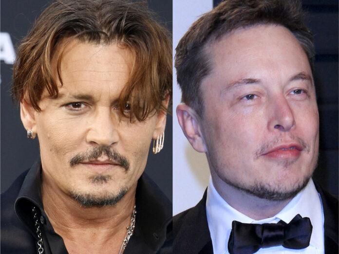 Johnny Depp (li.) hofft auf Elon Musk.