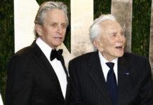 Michael und Kirk Douglas auf einer Oscar-Party im Jahr 2012.