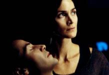 "Keanu Reeves und Carrie-Anne Moss in ""Matrix Reloaded"" (2003)"