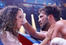 """""""Love Island""""-Paar Samira Berkane und Yasin Cilingir beim """"großen Sat.1 Promiboxen"""" im September 2020 in Köln"""