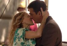 """Sarah Jessica Parker und Chris Noth bei den Dreharbeiten zum """"Sex and the City""""-Film 2007."""