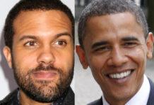 O-T Fagbenle (li.) verkörpert Barack Obama.