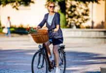 Fürs Einkaufen auf das Fahrrad umzusteigen