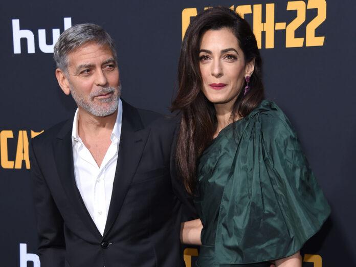 George und Amal Clooney auf einer Filmpremiere im Jahr 2019