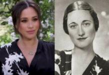 War Herzogin Meghans (l.) Interview-Look von Wallis Simpson - hier im Jahr 1936 - inspiriert?