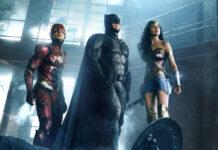 """Drei der sechs Mitglieder der """"Justice League"""": The Flash (Ezra Miller"""