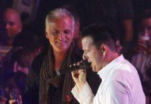 Nino de Angelo (l.) und Michael Wendler bei einem Duett in Oberhausen.