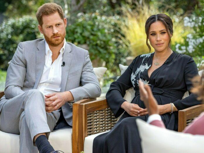 Prinz Harry und Herzogin Meghan im Gespräch mit Oprah Winfrey.