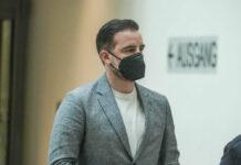 Christoph Metzelder am Prozesstag im Amtsgericht Düsseldorf