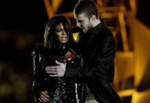 Janet Jackson und Justin Timberlake beim Super Bowl 2004.