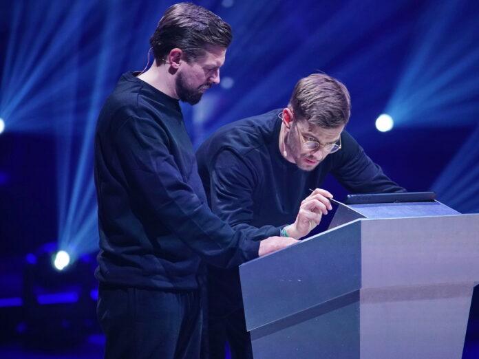 Joko Winterscheidt und Klaas Heufer-Umlauf (l.) konnten die finale Aufgabe nicht lösen