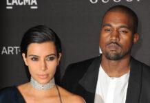 Kim Kardashian und Kanye West wenige Monate nach ihrer Hochzeit im Jahr 2014