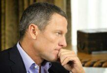 Lance Armstrong während eines Interviews.