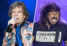 Mick Jagger (li.) und Dave Grohl rocken gemeinsam.