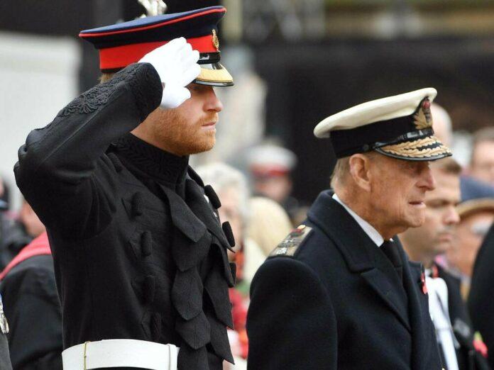 Prinz Harry (l.) und Prinz Philip im Jahr 2016