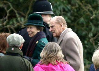 Prinzessin Anne und Prinz Philip im Dezember 2017 in Sandringham.
