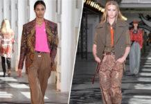 Hose mit Weitblick: Die Designer präsentierten auf der Mailänder Fashion Week Marlenehosen mit aufregenden Stylings