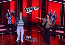 """Stefanie Kloß mit """"The Voice Kids""""-Sieger Egon Werler."""