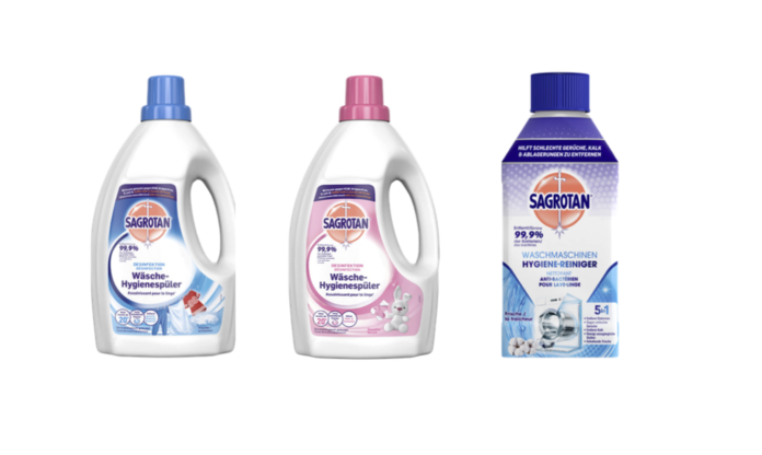 Antibakterielle Produkte von Sagrotan erhältlich