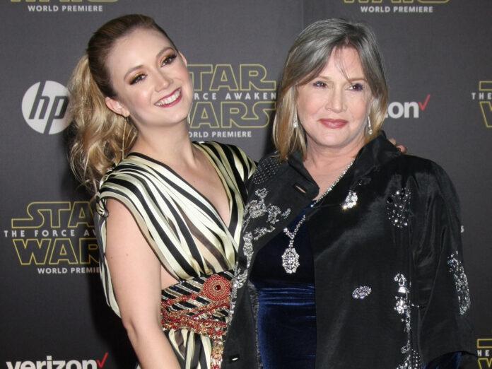 Billie Lourd (l.) und Carrie Fisher im Jahr 2015
