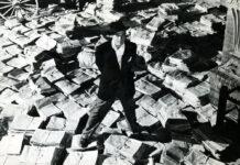 "Orson Welles als Zeitungsmogul Charles Foster Kane in ""Citizen Kane"""