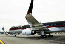 Donald Trumps Boeing 757 im Jahr 2016