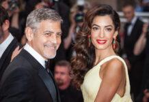 George Clooney an der Seite seiner zweiten Ehefrau Amal