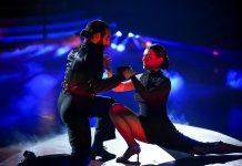 "Lili Paul-Roncalli und Massimo Sinató auf dem ""Let's Dance""-Tanzparkett."