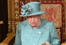 Queen Elizabeth II. bei der Parlamentsersöffnung im Dezember 2019