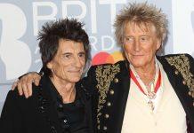 Ron Wood und Rod Stewart 2020 bei den Brit Awards