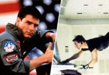 """In """"Top Gun"""" (l.) spielt Tom Cruise einen Kampfpilotenschüler"""