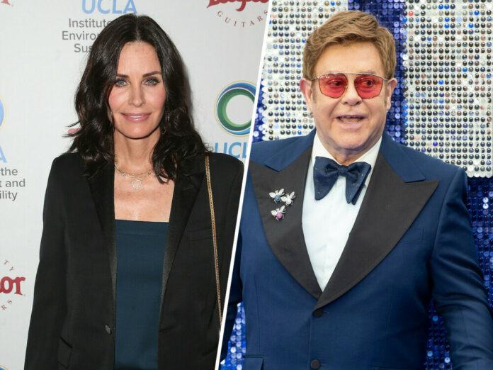 Hätten glatt auch Duett-Potenzial: Courteney Cox und Elton John