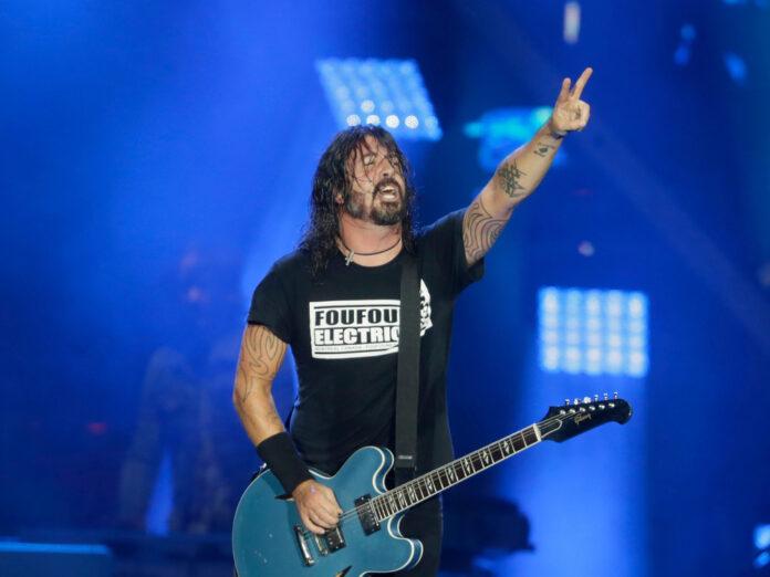 Sänger Dave Grohl mit den Foo Fighters bei einem Konzert in Brasilien 2019.