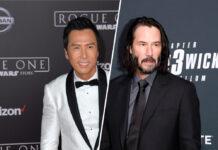 """In """"John Wick: Kapitel 4"""" zu sehen: Donnie Yen (li.) und Keanu Reeves"""