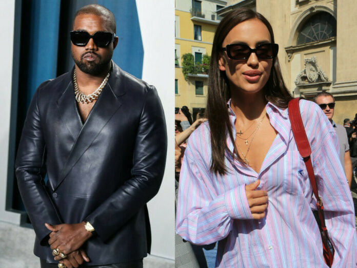 Kanye West und Irina Shayk waren zusammen in Frankreich.