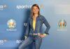 """Katrin Müller-Hohenstein moderiert das """"sportstudio live - UEFA EURO 2020""""."""