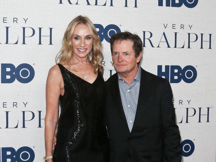 Michael J. Fox an der Seite seiner Frau Tracy Pollan