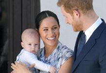 Prinz Harry und Herzogin Meghan 2019 mit ihrem Erstgeborenen