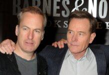 """Bob Odenkirk und Bryan Cranston (re.) standen in der Erfolgsserie """"Breaking Bad"""" gemeinsam vor der Kamera."""