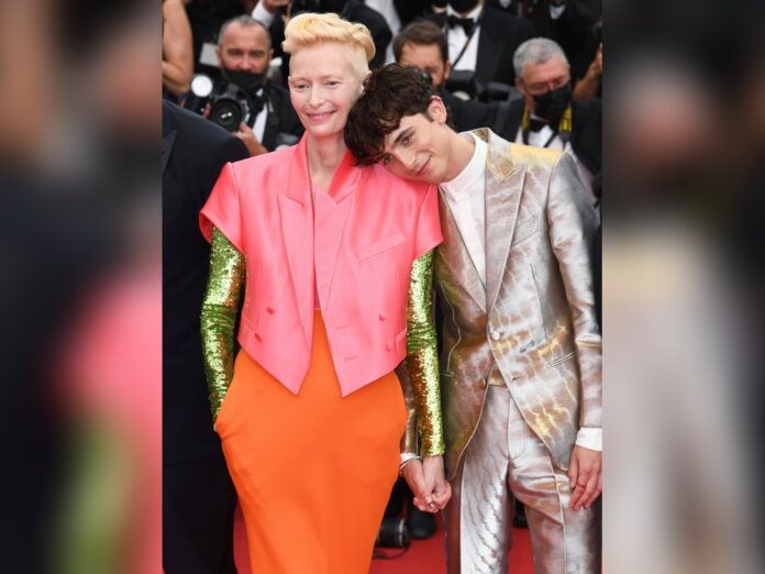 Timothée Chalamet und Tilda Swinton bei der Cannes-Premiere von