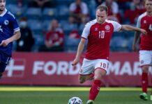 Wird wohl vorerst nicht mehr in Italien spielen können: Inter-Mailand-Profi Christian Eriksen hier im Trikot der dänischen Nationalmannschaft.