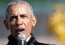 Barack Obama bei einem Auftritt in Michigan.